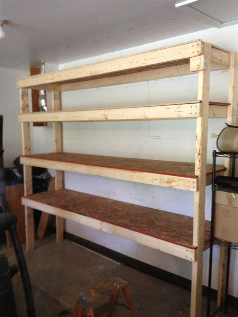 diy storage shelves 20 diy garage shelving ideas guide patterns