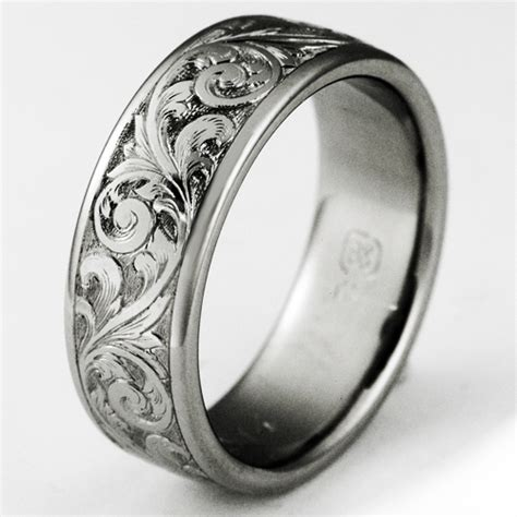 how to make titanium jewelry exeter 1 titanium ring with scrollwork titanium wedding