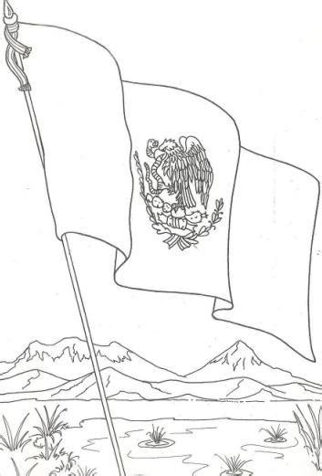 escudo bandera de mexico para colorear nocturnar bandera de mexico para pintar dia de la bandera