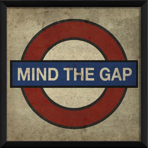 Quot Mind The Gap Quot London Underground Print 16 Quot X16