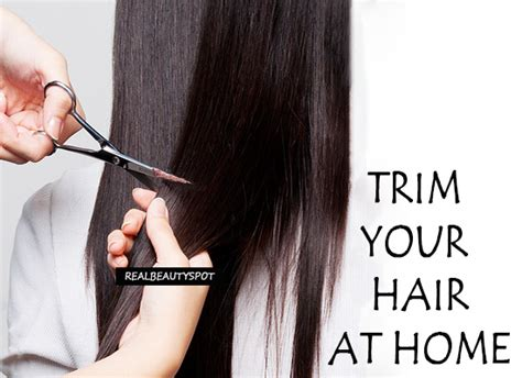 how to trim your own hair at home theindianspot