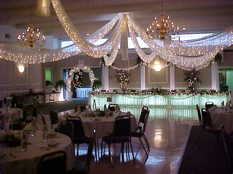 twinkle lights tulle ceiling wedding announcer forums