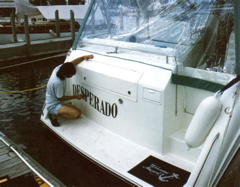 installing boat lettering boat lettering installation vinyl graphics from cut to