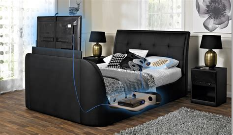 bed frame with built in tv tv bed frame bensons for beds