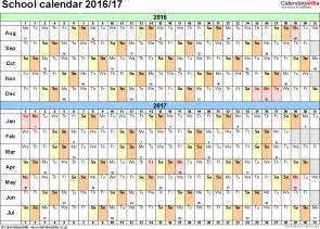 school year calendar template school calendars 2016 2017 as free printable pdf templates