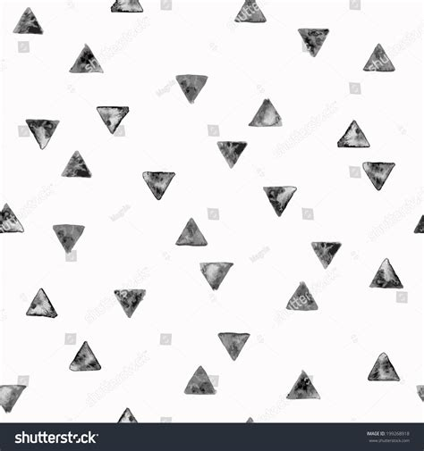 black triangle pattern vector seamless pattern grunge black triangles vector stock