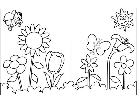 free coloring sheets for spring az coloring pages