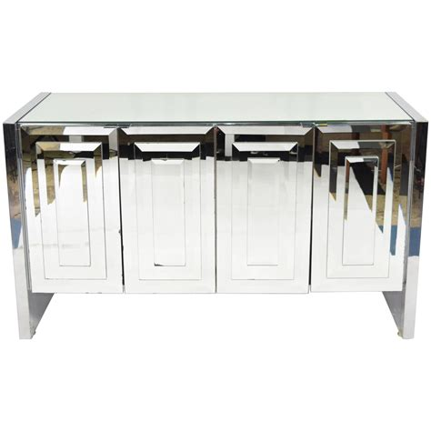 Mirrored Buffet Cabinet by Mirrored Sideboard Cabinet By Ello For Sale At 1stdibs