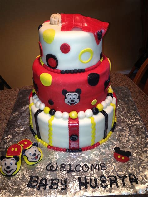 Baby Shower Cake With Baby On Top by Mickey Mouse Baby Shower Cake W Baby On Top Baby