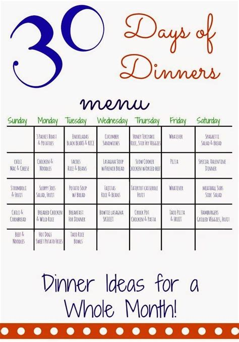 family dinner menu template 38 best images about organizing meal planning on