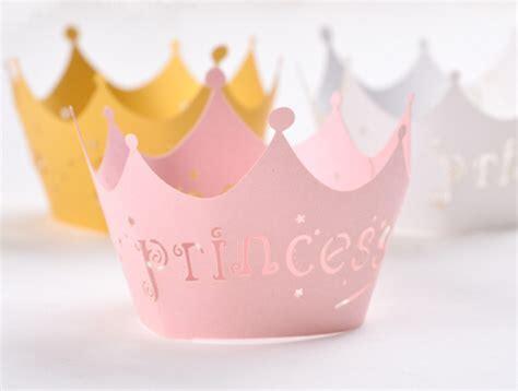 Mahkota Ulang Tahun Silver Crown Crown Mahkota Pesta aliexpress beli 100 pcs lot putri mahkota desain potong laser kertas cake wrapper baby