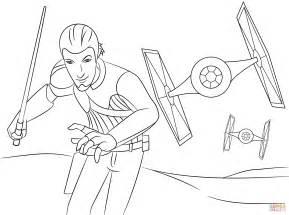 rebels ezra coloring pages dibujo de rebelde de wars kanan para colorear