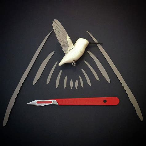 How To Make A 3d Bird Out Of Paper - i make paper and wood birds by cutting every feather