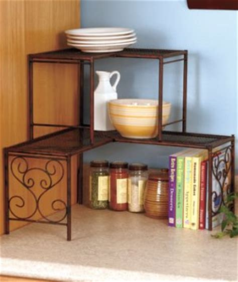 kitchen counter corner shelf bronze kitchen collection 2 tier corner shelf