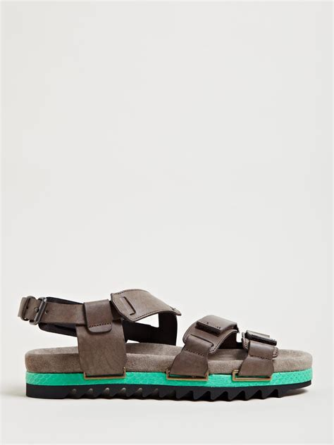 mens lanvin sneakers lyst lanvin mens three sandals in gray for