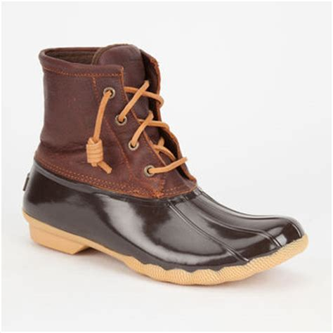 sperry saltwater womens duck boots brown from tilly s