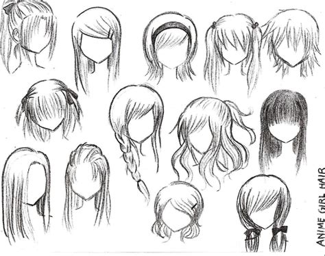 hairstyles of anime drawings anime hairstyles
