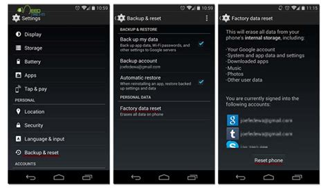 factory reset android java how to master reset your android device