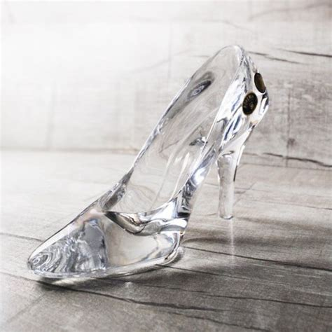 engraved glass slipper s day gift 19cm msa cinderella glass slipper