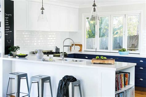 subway tile for kitchen 5 kitchens that use white subway tiles home beautiful magazine australia