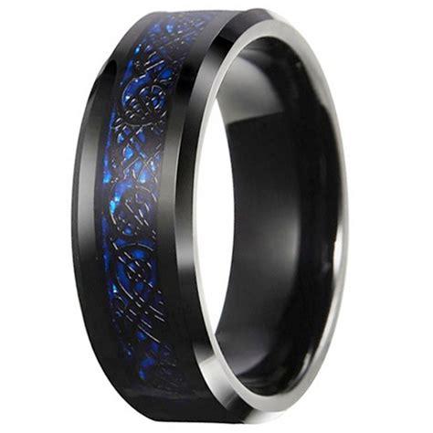 bague ottomane homme bague homme anneau noir tungstene motif celtique fibre de