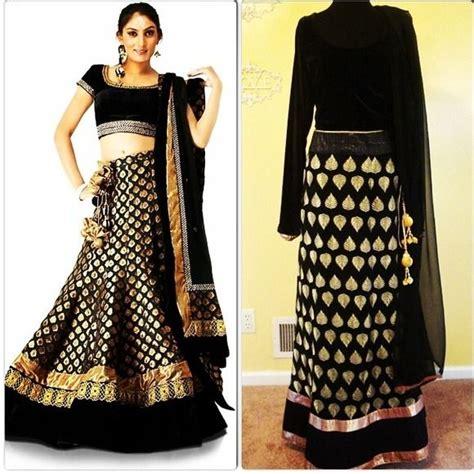 Emerson Black Nwt Ready black gold banarsi velvet lehenga choli xl l nwt this beautiful lehenga choli dress features