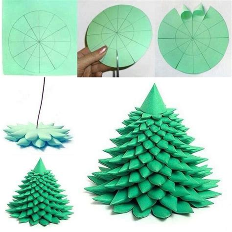 folded paper xmas tree paper pinterest