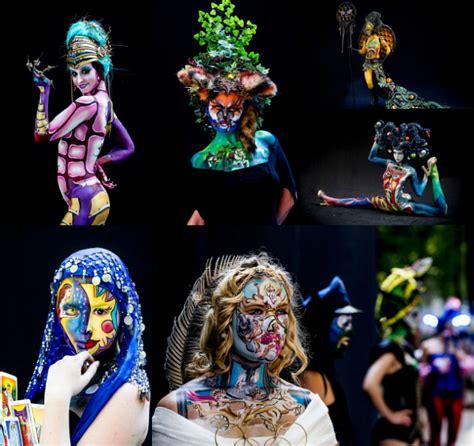 festival bodypainting dunia ratusan wanita sebagai kanvas di world bodypainting