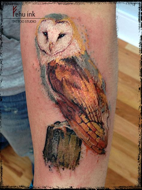 owl watercolor tattoo watercolor owl by ellegottzi on deviantart