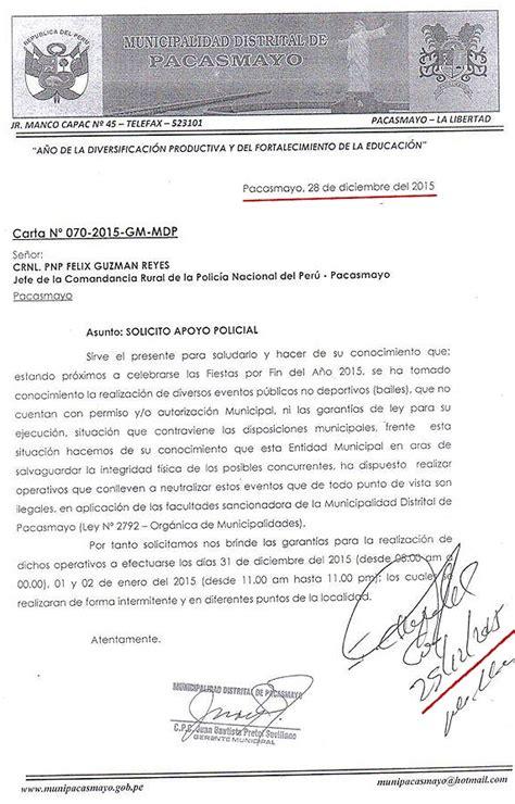 carta de autorizacion municipal pacasmayo juergas y desenfreno burlaron toda autoridad undiario