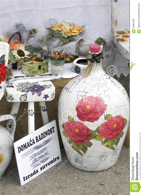 decoupage items for sale editorial stock image image
