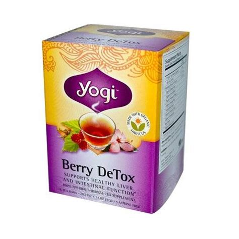 Detox Tea F by Yogi Berry Detox Tea 16 Bag
