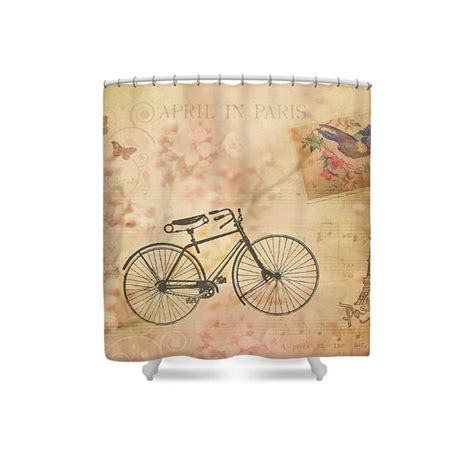 Bicycle Shower Curtain by Decor Bike Shower Curtain Pink Shower Curtain