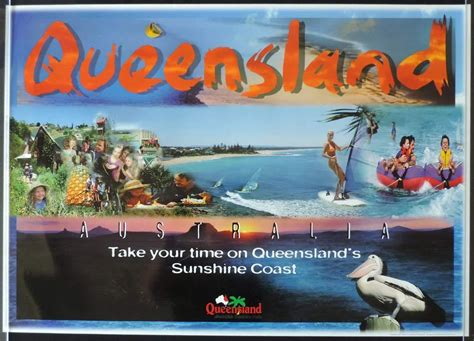 boat store gold coast queensland vintage travel poster the sunshine coast 1990s