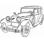 Classic Car Line Drawing  Wwwpixsharkcom Images Galleries With A
