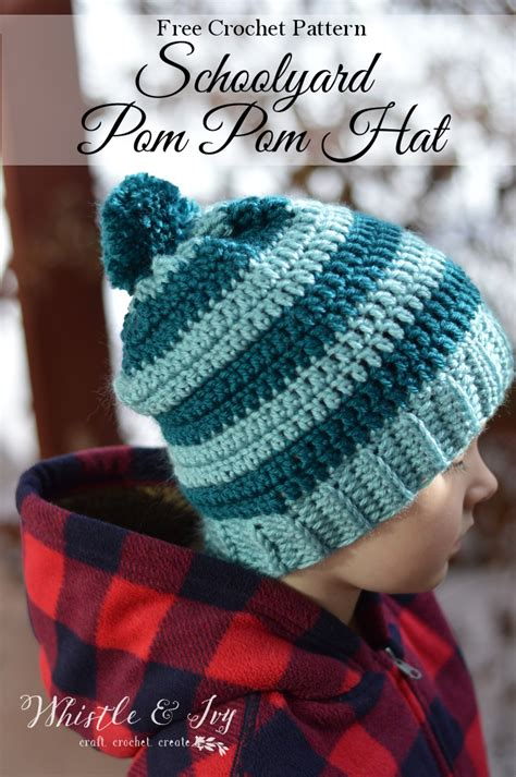 Free Pompom by Free Crochet Pattern Pom Pom Hat Dancox For