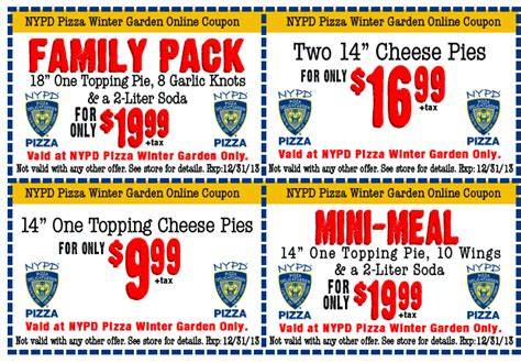 Nypd Pizza Winter Garden nypd pizza nypd pizza winter garden s coupons