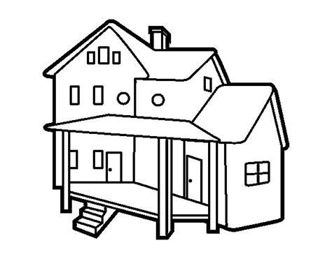 imagenes para pintar la casa dibujo de casa con porche para colorear dibujos net