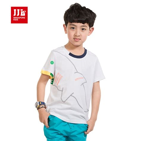 T Shirt Kid 4 t shirts for boys fashion shark printed design shirts for tops 100 cotton tops