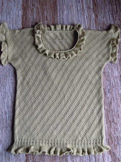 Handmade Jumpers - vintage handmade frilly jumper