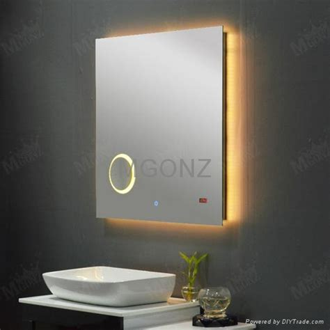 bathroom mirror anti fog spray mgonz with time magnifier led lights anti fog bathroom mirror 6080 china manufacturer