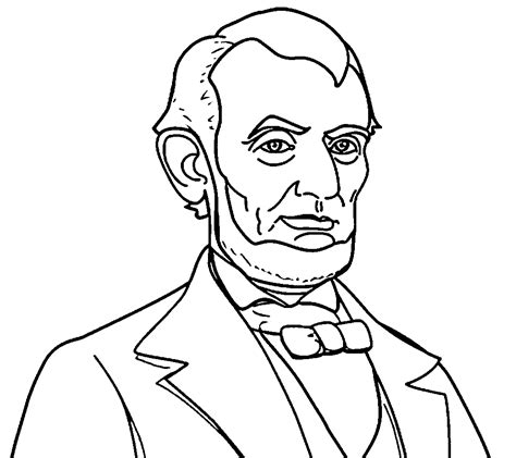 abraham lincoln coloring pages bing images