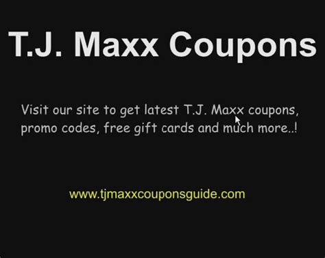 tj maxx printable gift card tjmax coupon release date price and specs