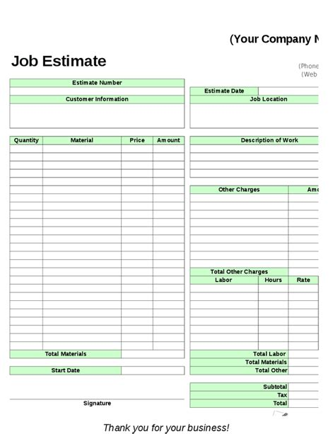 lawn care estimate template studio design gallery