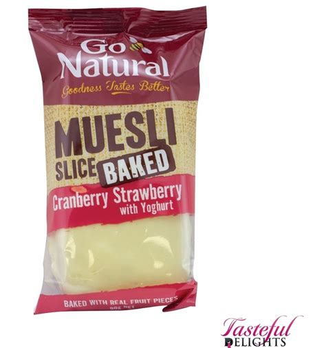yogurt topping for muesli bars go natural baked muesli strawberry yogurt 90g x 12