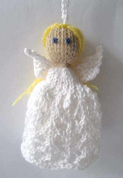 knitting and more knitted christmas decorations