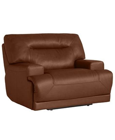 ricardo leather sofa ricardo leather power recliner furniture macy s