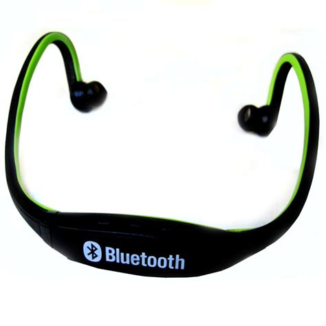 Headset Bluetooth Sport sports wireless bluetooth headset bth 404 black green