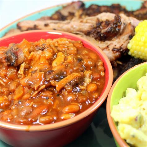inspired by erecipecards smoked pulled pork and beans grilling time side dish