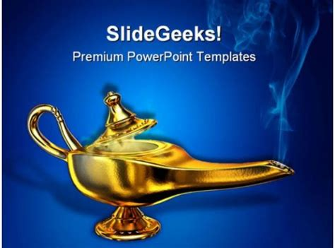 magic lamp business powerpoint templates  powerpoint backgrounds  powerpoint templates